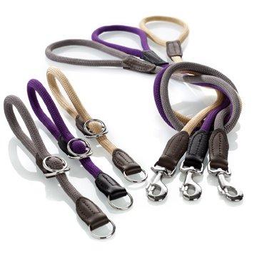 Collier et laisse en corde - Laisse corde gros chien ...
